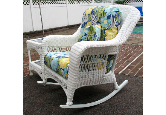 Palm Springs Resin Wicker Rockers, White - Palm Springs Resin Wicker Rockers, White