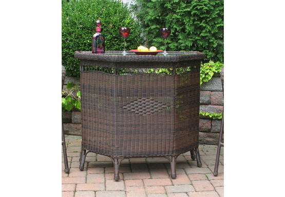 Resin Wicker Bar in 4 colors - ANTIQUE BROWN