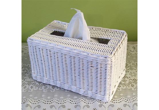 Rectangular Wicker Tissue Box Cover