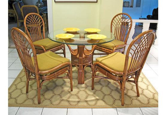 "Savannah 42"" Round Natural Rattan Dining Sets - TEAWASH"