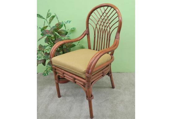Savannah Rattan Dining Arm Chair  - TEAWASH