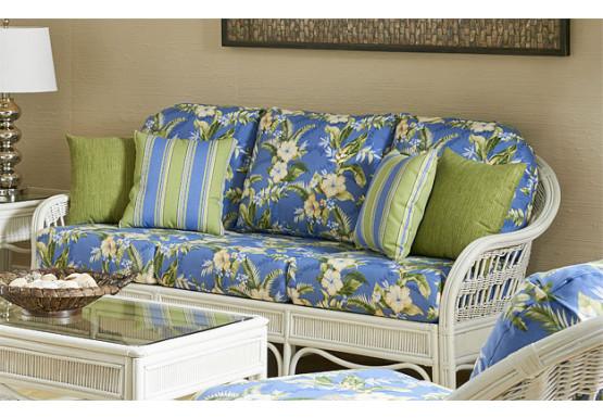 Bermuda Wicker Sofa  - WHITEWASH