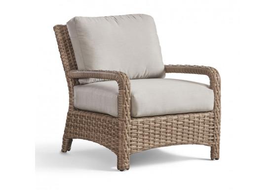 Bonita All Weather Outdoor Resin Wicker Lounge Chair - MUSHROOM