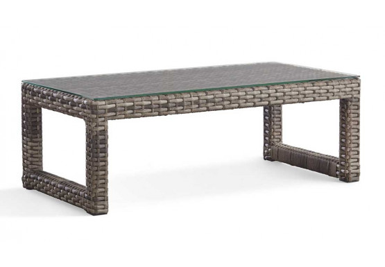 Biscayne Bay All Weather Resin Wicker Cocktail Table - SANDSTONE FINISH