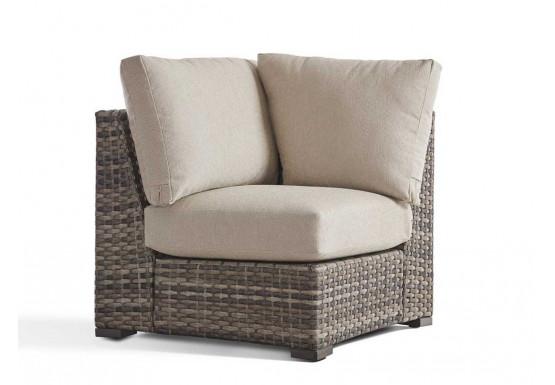 Biscayne Bay Resin Wicker Square Corner Chair  - SANDSTONE FINISH
