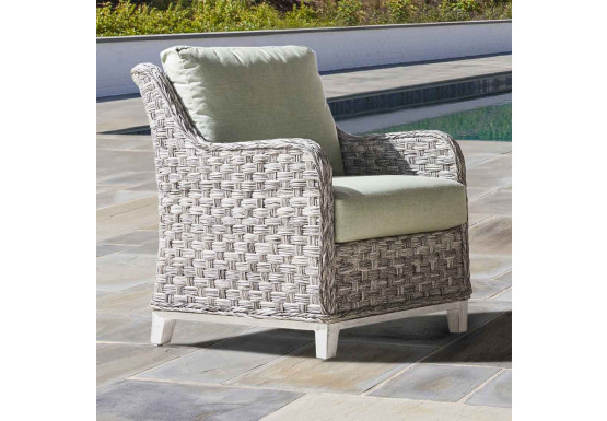 Canyon Lake Resin Wicker Lounge Chair  - GRANITE
