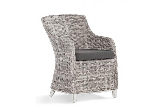 Canyon Lake Resin Wicker Dining Arm Chair  - GRANITE