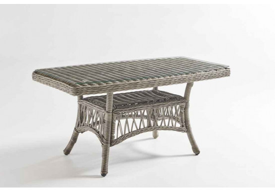 San Carlos Resin Wicker Cocktail Table (Not Sold Alone) - SLATE