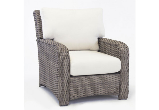 St Croix All Weather Outdoor Resin Wicker Chair - STONE