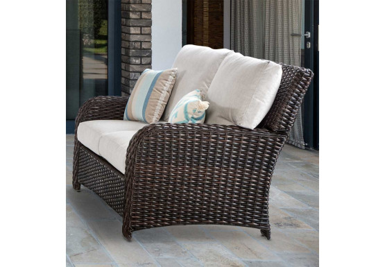 Surprising St Croix All Weather Outdoor Resin Wicker Loveseat Cjindustries Chair Design For Home Cjindustriesco