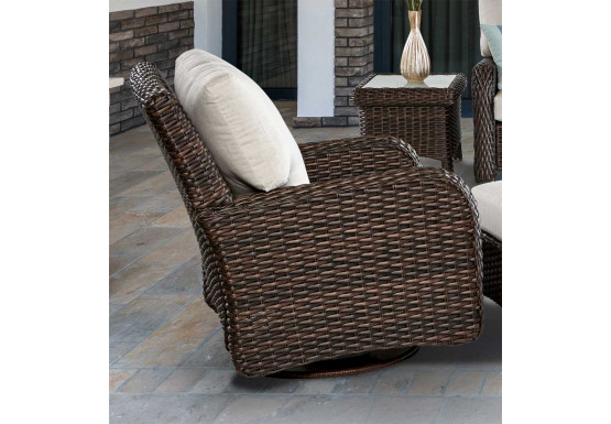 Awesome St Croix All Weather Outdoor Resin Wicker Swivel Glider Chair Beatyapartments Chair Design Images Beatyapartmentscom