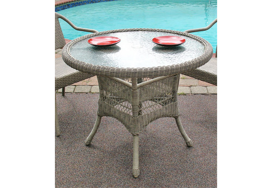 Resin Wicker Dining Table 36 Round