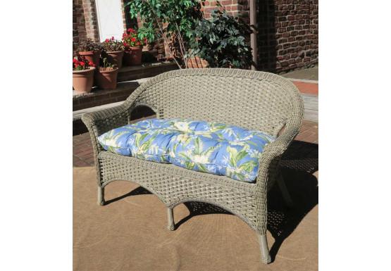 Veranda Resin Wicker Loveseat With Seat Cushion - DRIFTWOOD