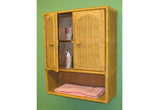 Wicker Wall Cabinet, Caramel -  Wicker Wall Cabinet, Caramel