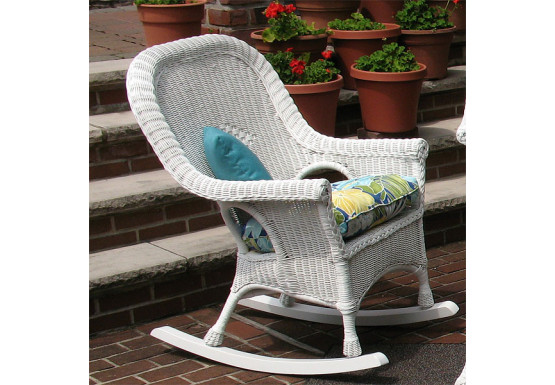 sale retailer 177d0 48b14 Natural Wicker Rocking Chairs, High Back Diamond Style