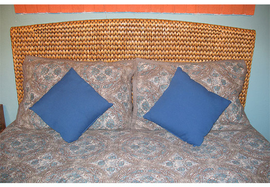 Water Hyacinth King Wicker Headboard - NATURAL
