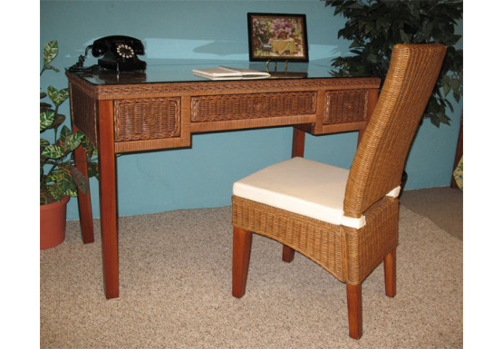 Signature Writing Table with Glass Top - TEAWASH