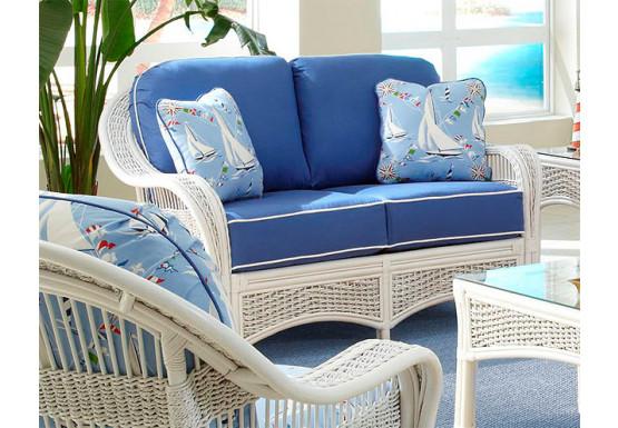 Pleasing Fiji Natural Wicker Indoor Loveseat Short Links Chair Design For Home Short Linksinfo