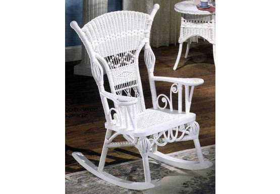 Enjoyable Aunt Millie Natural Rattan Framed Wicker Rocker Spiritservingveterans Wood Chair Design Ideas Spiritservingveteransorg