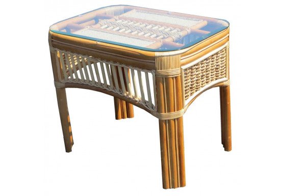 Mariner Natural Rattan Wicker End Table  - NATURAL