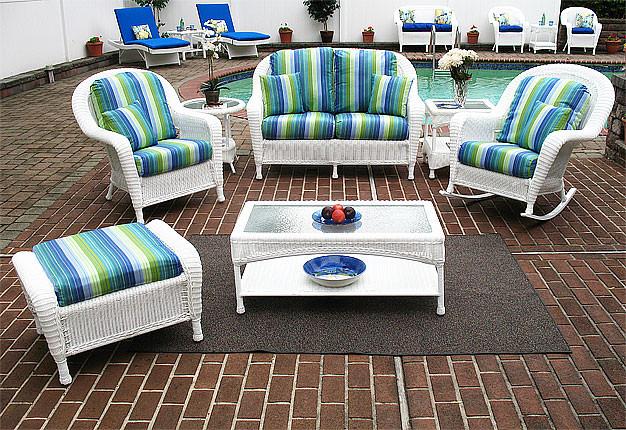 4 Piece Laa Beach Resin Wicker Patio, Beach Patio Furniture