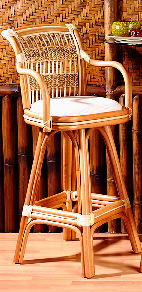 Miraculous Fiji Rttan Framed Natural Wicker Bar Stool Gmtry Best Dining Table And Chair Ideas Images Gmtryco