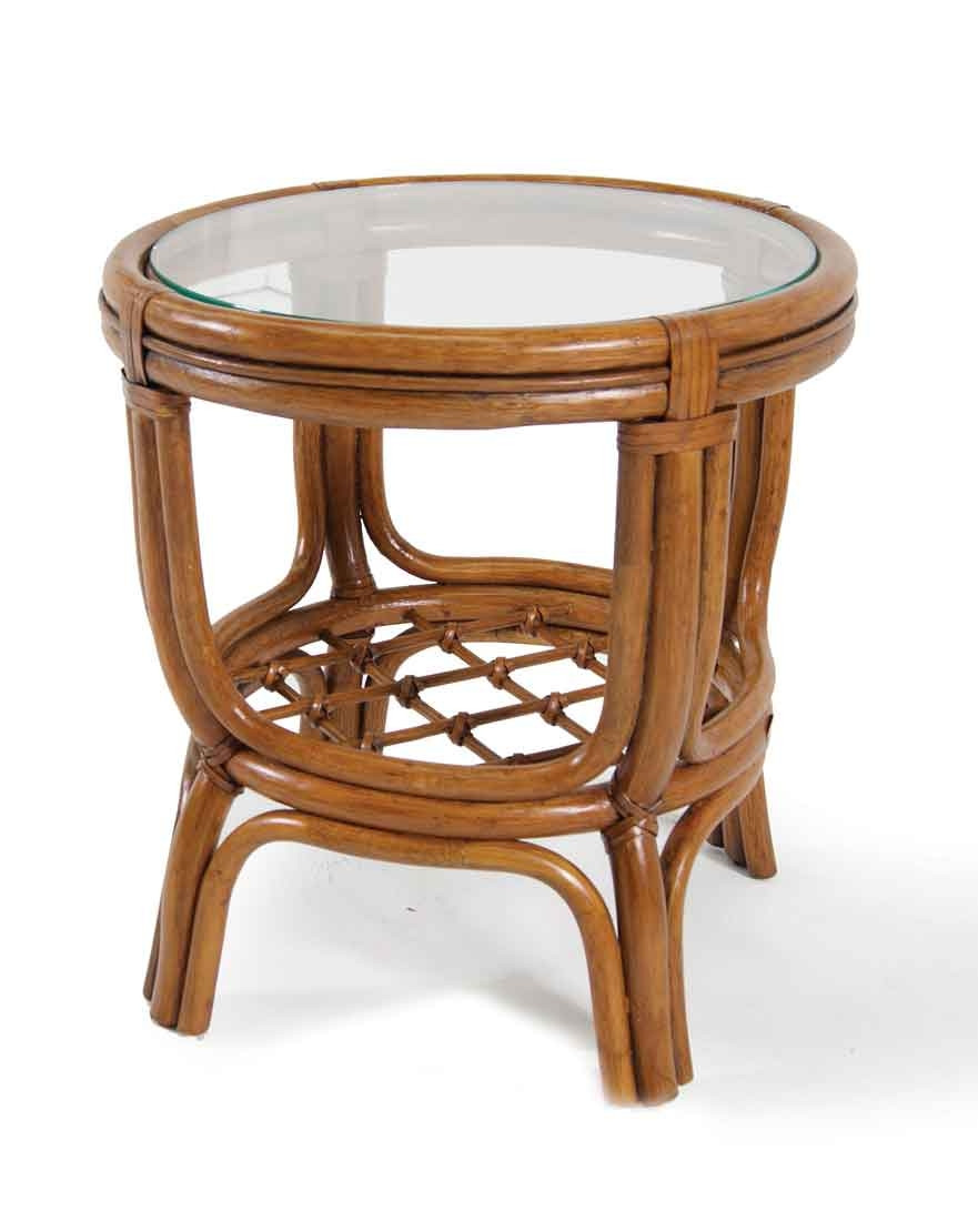 Delta Round Side Table With Gl Top