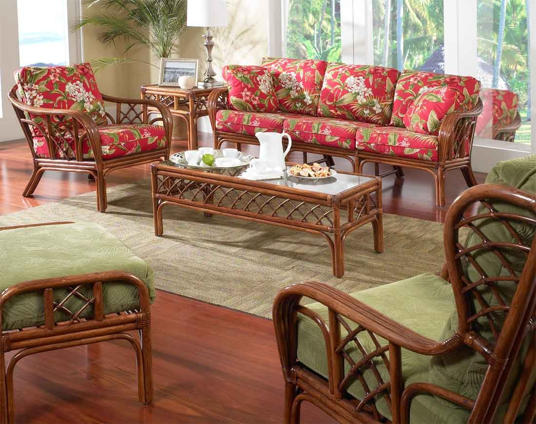 6 Piece Grand Isle Rattan Furniture Set with Hi Back Chair