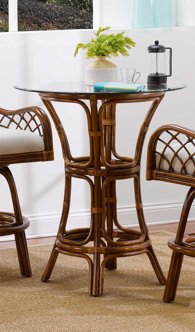Grand Isle Rattan Bar Height Dining Table