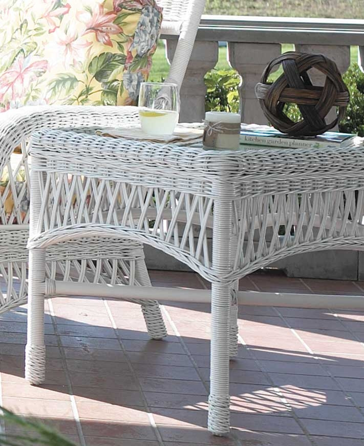 Old Nassau Wicker End Table Custom Finishes