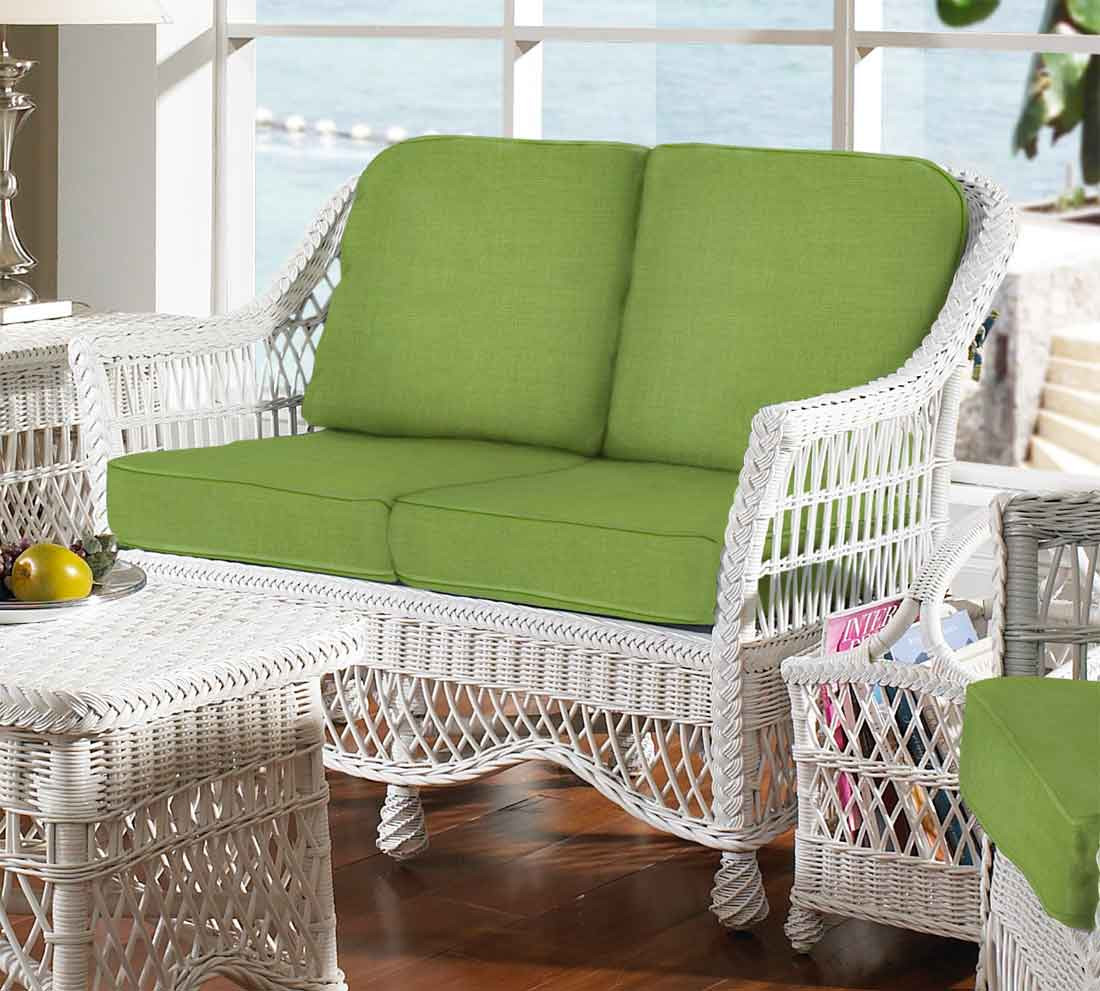 Surprising Capri Rattan Framed Natural Wicker Loveseat Ocoug Best Dining Table And Chair Ideas Images Ocougorg
