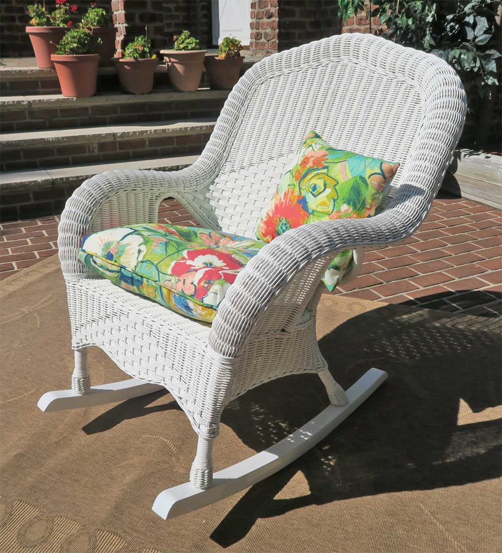 Naples Natural Wicker Rocking Chair