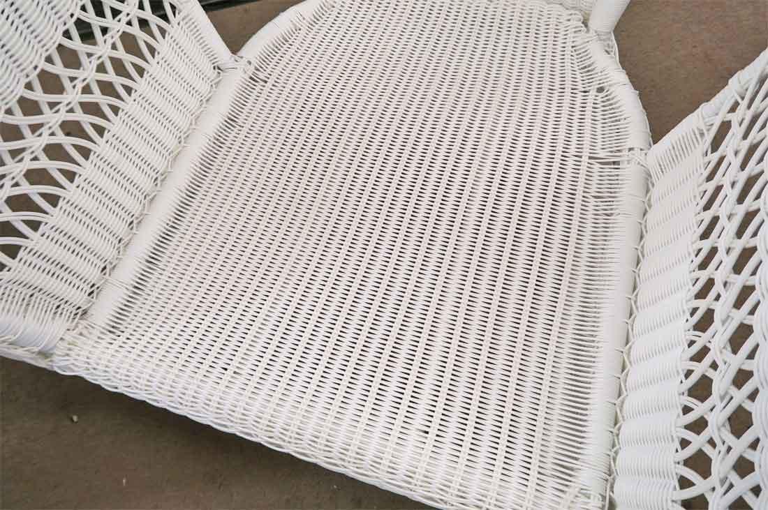 4 Piece Palm Springs Resin Wicker Furniture Set Sofa