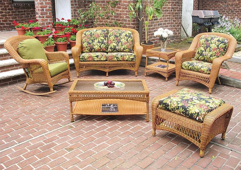 5 Piece Palm Springs Resin Wicker, Resin Wicker Furniture
