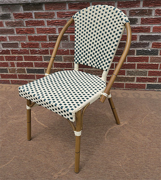 Resin Wicker Cafe Dining Chairs  Min 2