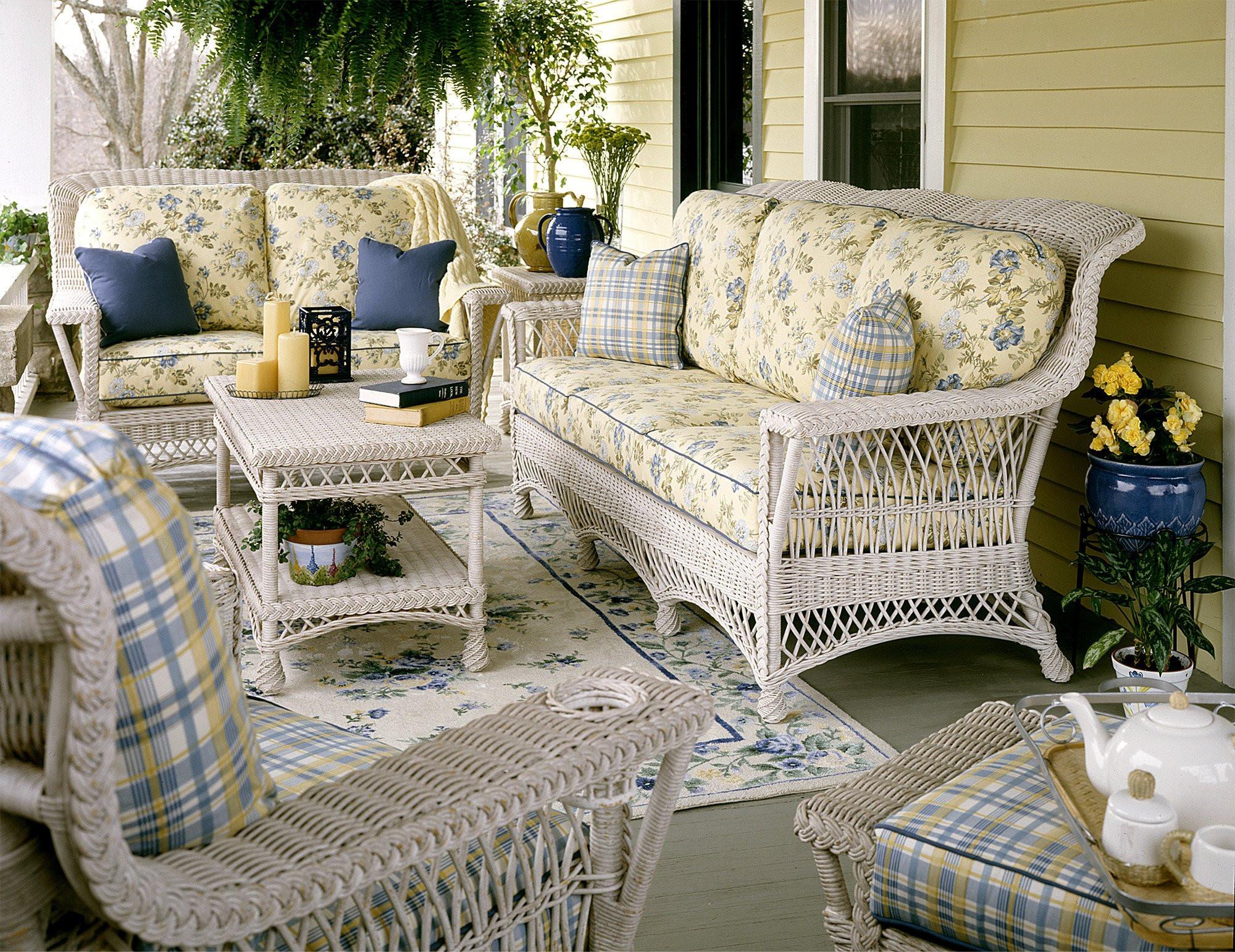 Lancaster Natural Wicker Furniture Set