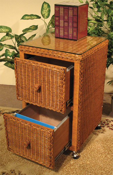 newest collection 0d2ed 4b075 Wicker File Cabinet 2 Drawers