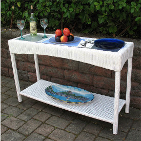 Outdoor Wicker Serving Carts
