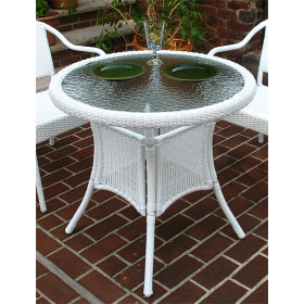 "Resin Wicker Bistro Dining Table 30"" Round"