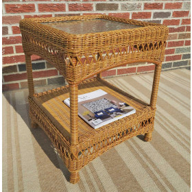Belaire Resin Wicker End Table