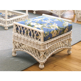 Harbor Beach Natural Wicker Ottoman