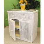 All Purpose Wicker Commode Cabinet - WHITE