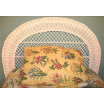 Arch Twin Wicker Headboard - WHITE