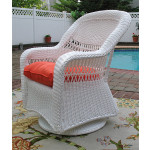 Belair Resin Wicker Swivel Glider Chairs  - WHITE