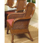 Rattan Dining Arm Chair Casa Blanca - MAHOGANY