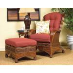 Casa Blanca Rattan Wing Chair - MAHOGANY