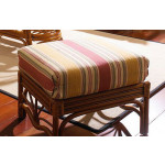 Tahiti  Natural Rattan Ottoman - WALNUT