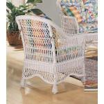Capri  Rattan Framed Natural Wicker Chair - REAR