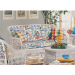 Capri Rattan Framed Natural Wicker Sofa -