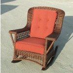 Natural Rattan Sea Harbor Wicker Rocking Chair -